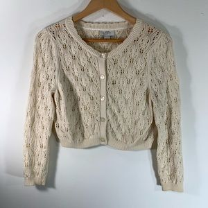 LOFT cardigan knit crop
